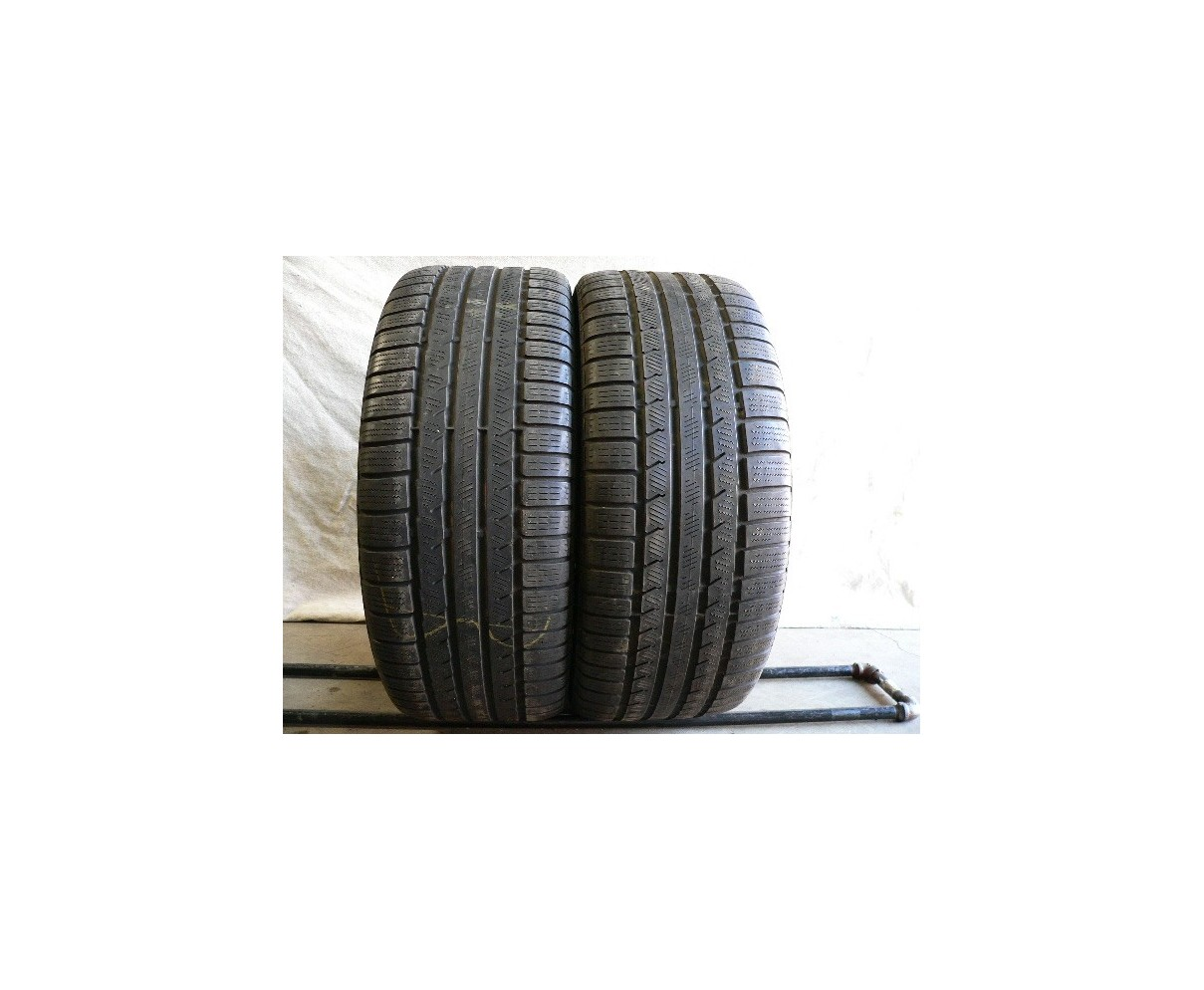 2 used tires 225 45 17 Continental ContiWinterContact TS 810S Run Flat 60% life