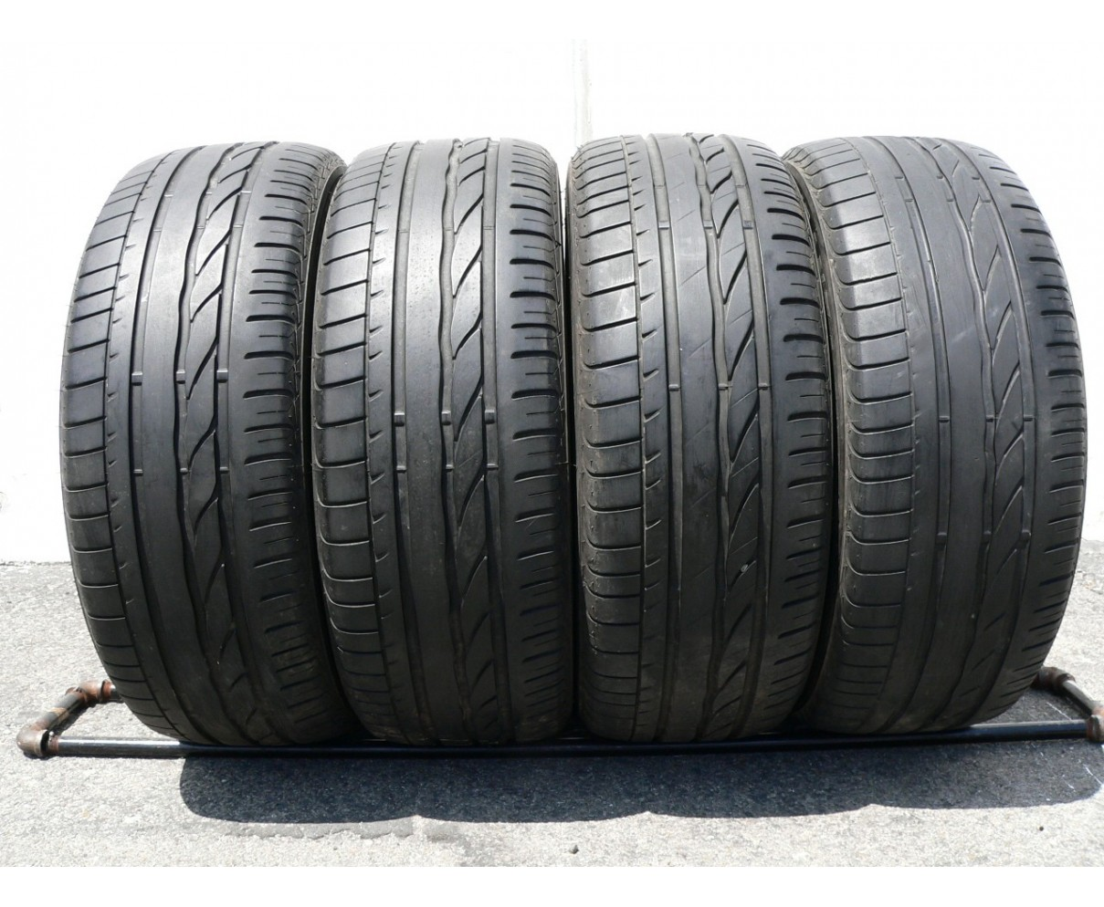 4 used tires 195 55 16 Bridgestone Turanza ER 300-02 Run Flat 60% life